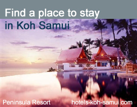 Guide to hotels and places to stay on Koh Samui Island in Thailand